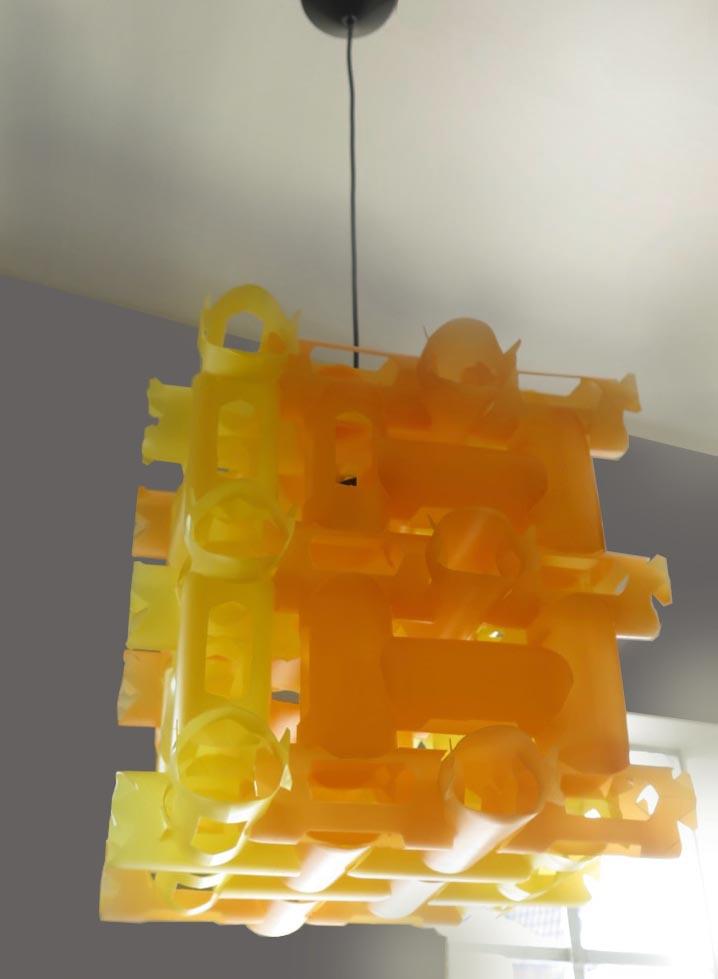 lamp flessen oranje