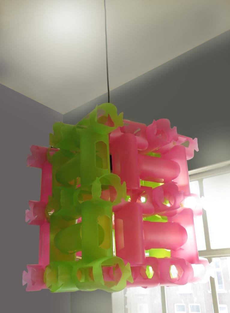 lamp roze groen pl fless